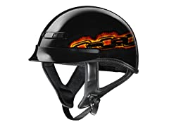 GLX Chain Skull Half Helmet