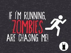 Zombies Chase Me Tri-Blend Tank