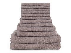 12 Piece 100% Cotton Towel Set-10 Colors