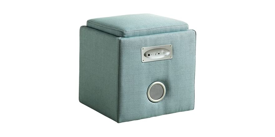 Padded Storage Ottoman W Bluetooth Speakers 5 Colors