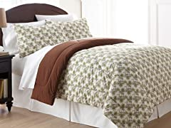 Micro Flannel® Comforter Set-Pinecone-3 Sizes