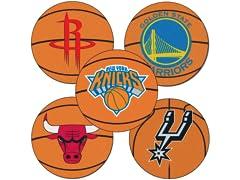"""NBA Basketball Mat 27"""" diameter"""