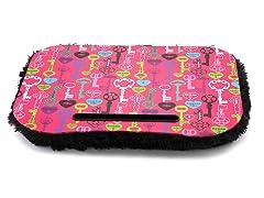 Fuzzy Lapdesk - Life Keys Multi Pink