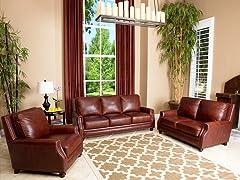 Carrington Leather 3-Pc Set