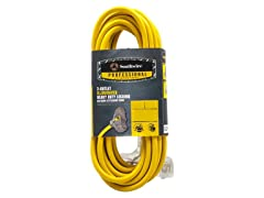 25Ft. 14/3 Lighted 3 Tap Extension Cord