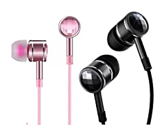 1MORE Dual Pack Swarovski Crystal Headphones