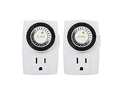 BN-LINK Indoor Mini 24-Hour Outlet Timer