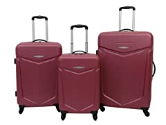 Priority Access 3pc Hardshell Luggage Set - Red
