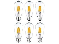 ST 64 LED Light Bulbs (6-Pack)