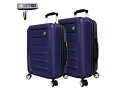 Mia Toro 24 and 28-Inch  Spinner Luggage and Digital Scale
