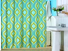 Teardrop Print Shower Curtain