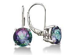 3.5 Carat Rainbow Amethyst Drop Earrings in Sterling Silver