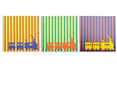 Little Engines Canvas Print- Set of 3