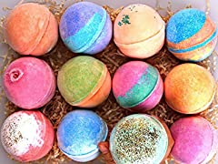 RegaliaPRO 12-Pack Bath Bomb Gift Set