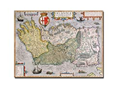 Map of Ireland' Canvas Art- 2 Sizes