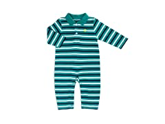 Green Yarn Dye Stripe Coverall (0-3M)