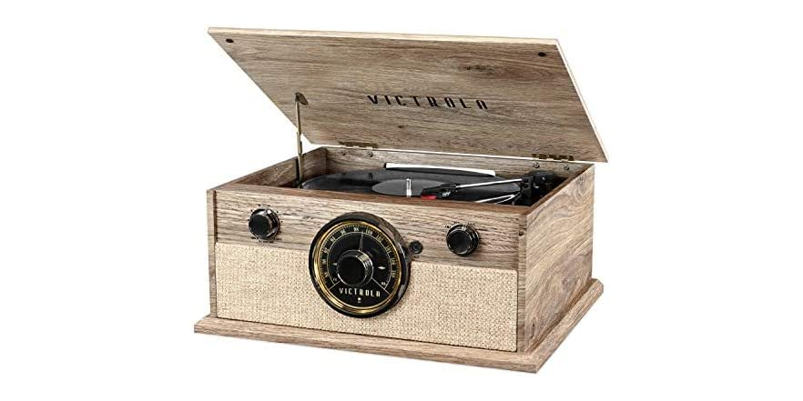 Victrola 4-in-1 Cambridge Bluetooth Turntable with FM Radio | WOOT