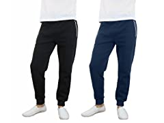 Men's Fleece Jogger Pants 2-Pack
