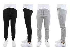 Men's Slim Fit Terry Joggers 2-Pack