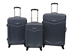 Priority Access 3pc Hardshell Luggage Set - Charcoal