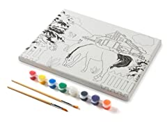 Farm Scene Canvas Paint Set