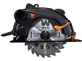 """WEN 12-Amp 7-1/4"""" Sidewinder Circular Saw"""