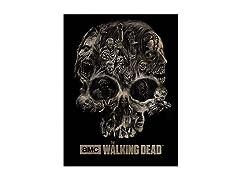 Walking Dead Fleece Throw - Zombie Skull Art