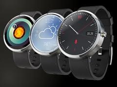 Motorola Moto 360 Leather Smart Watch