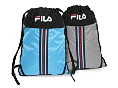 Fila Blue & Grey X2 Sackpack 2-Pack
