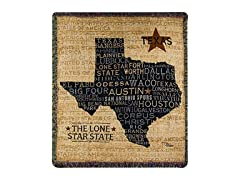 Manual Tapestry Throw, USA Texas