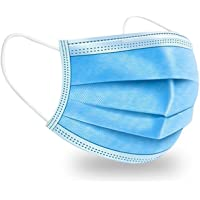 50-Pack Blue Disposable Non-Medical 3-Ply Face Masks