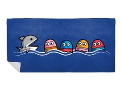 """Shark Pac"" Beach Towel"