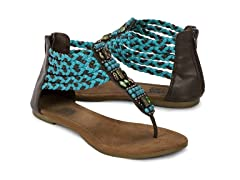Muk Luks Sierra Braided Sandals, Blue