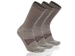 Cooplus Men's Merino Wool Socks 3-Pairs