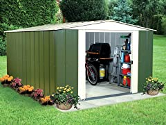 10' x 13' Metal Storage Shed Kit