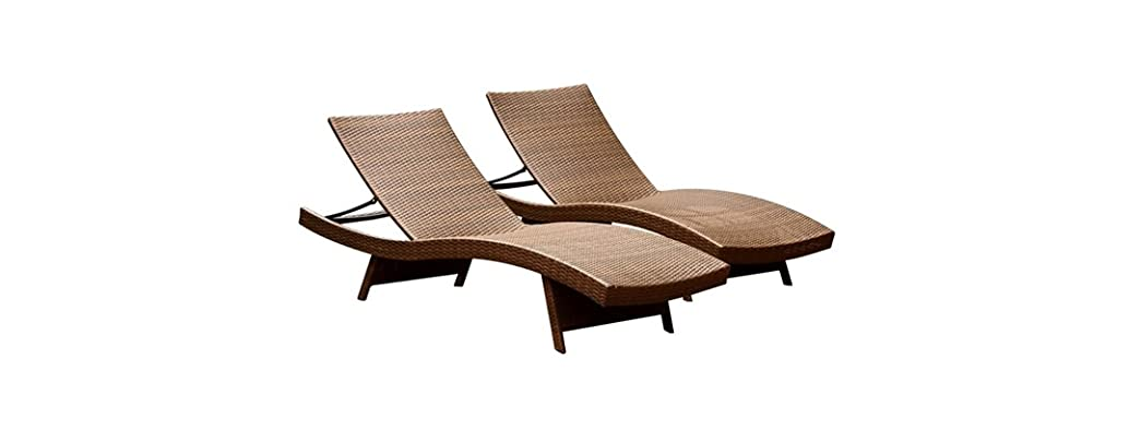 Abbyson Living Redondo Outdoor Chaise Loungers