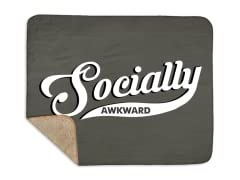 Socially Awkward Sherpa Blanket
