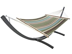 Quilted Acrylic Hammock, Multi Stripe