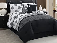 Isabella 8pc Comforter Set-2 Sizes