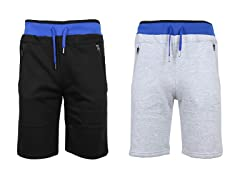 Men's Fleece Lounge Jogger Shorts 2Pk