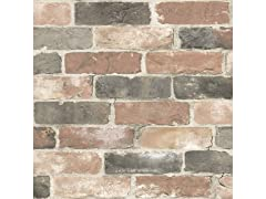 Newport Reclaimed Brick Peel & Stick Wallpaper