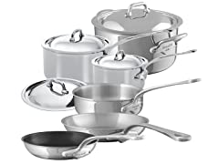 Mauviel M'Cook Stainless Steel 10PC Set