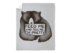 """Feed Me And Tell Me I'm Pretty"" Blanket"