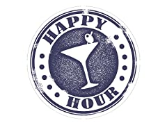 Happy Hour Cocktail Stamp Coasters- Set of 4