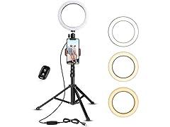 UBeesize Selfie Ring Light with Tripod & Phone Holder
