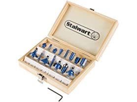 Stalwart 15-Piece Router Bit Set w Case