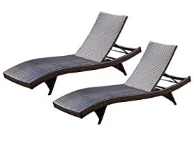Wicker Chaise Lounger