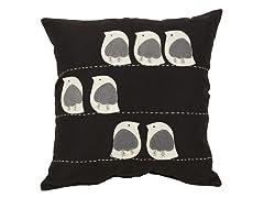 Felt Birds 18-inch Pillow