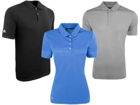 adidas Men's and Women's Polos