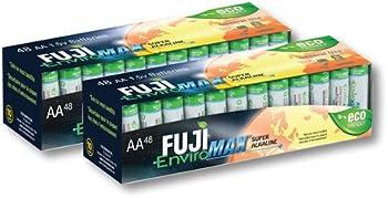 96-Pack Fuji EnviroMAX AA Batteries